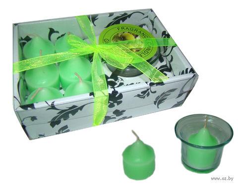 Набор свечей декоративных с подсвечником (7 шт.; арт. Y0885) — фото, картинка