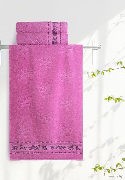 """Полотенце махровое """"Бабочки"""" (50х90 см; орхидея) — фото, картинка"""
