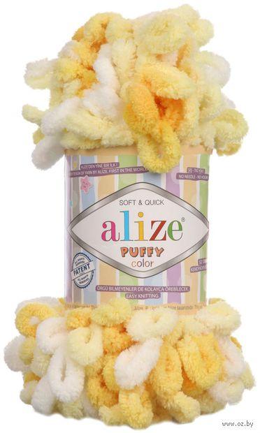 """Пряжа """"ALIZE. Puffy Color №5921"""" (100 г; 9 м; секционный) — фото, картинка"""