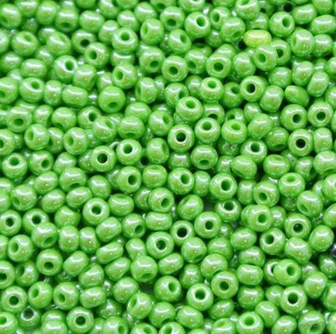 Бисер №58210 (светло-зеленый; жемчужный; 10/0) — фото, картинка