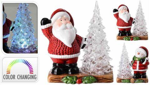 "Фигурка светящаяся ""Дед Мороз с ёлкой"" — фото, картинка"