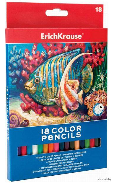 Цветные карандаши Erich Krause (18 цветов)
