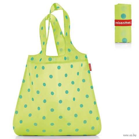 "Сумка складная ""Mini maxi shopper"" (dots green)"