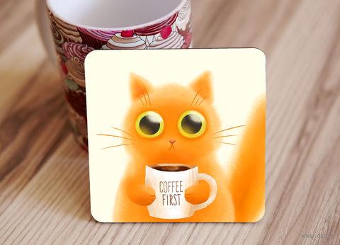 """Подставка под кружку """"Cat"""" (арт. 44) — фото, картинка"""