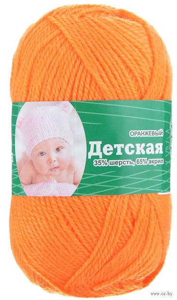 "Пряжа ""Астра. Baby"" (оранжевая; 50 г; 150 м) — фото, картинка"