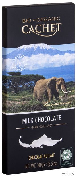 "Шоколад молочный ""Organic. 40%"" (100 г) — фото, картинка"