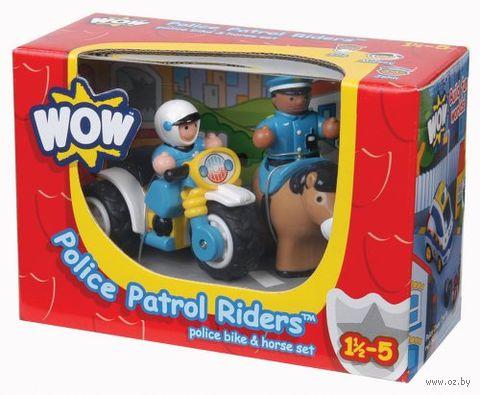 """Игровой набор """"Полицейский патруль: мотоциклист и всадник"""""""