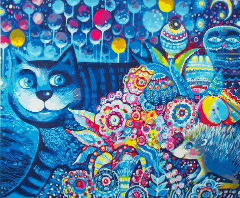 "Картина по номерам ""Индиго кот"" (500х400 мм)"