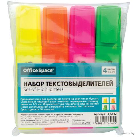 """Набор маркеров текстовых """"OfficeSpace"""" (4 цвета; 1-5 мм)"""