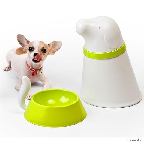 """Контейнер и миска для собаки """"Pupp"""" (белая)"""