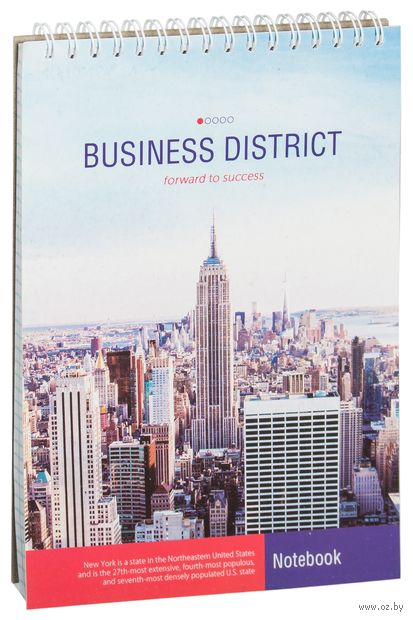 """Блокнот на спирали """"Офис. Business District"""" А5 (60 листов)"""