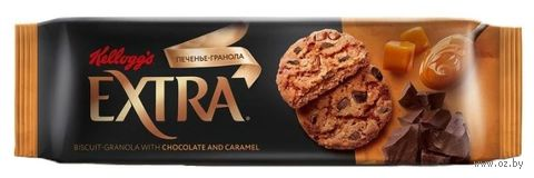 """Печенье """"Extra. С шоколадом и карамелью"""" (150 г) — фото, картинка"""