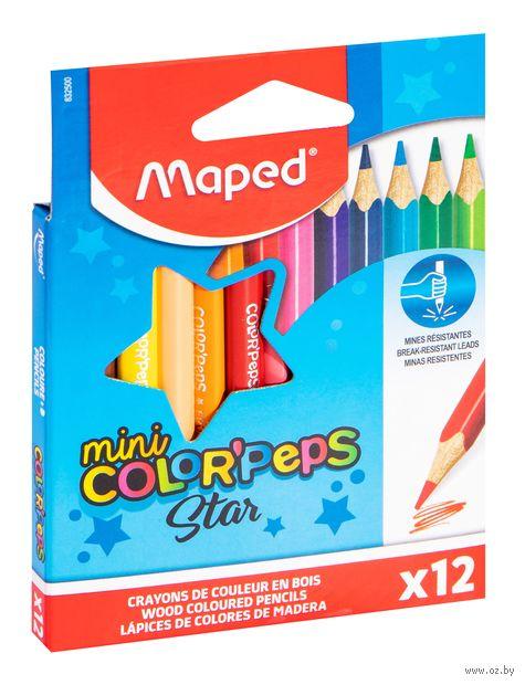 "Набор карандашей цветных ""Mini Color Peps"" (12 цветов) — фото, картинка"