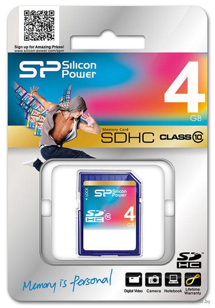 Карта памяти SDHC Silicon Power 4GB Class 10