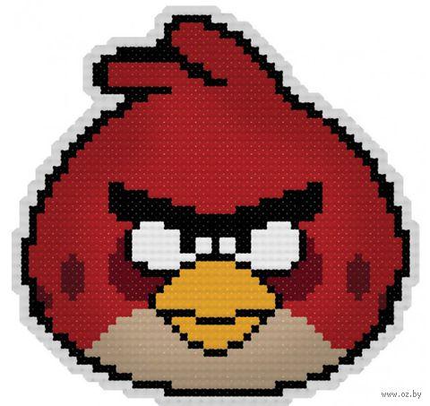 """Вышивка крестом """"Брелок. Злая птица"""""""