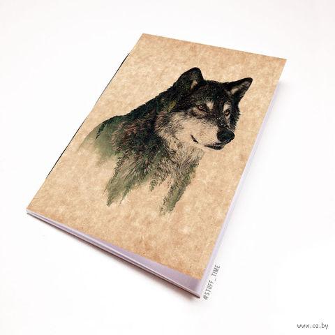 """Блокнот крафт """"Волк"""" (А7; арт. 941) — фото, картинка"""