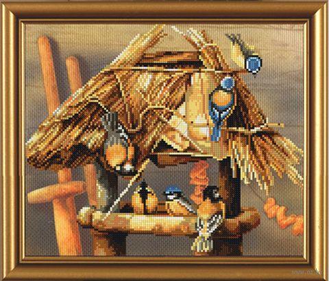 """Вышивка крестом """"Птичий календарь. Зима"""""""