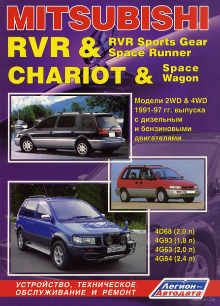 Mitsubishi RVR & RVR Sports Gear. Space Runner. Chariot & Space Wagon с 1991-1997 гг. — фото, картинка