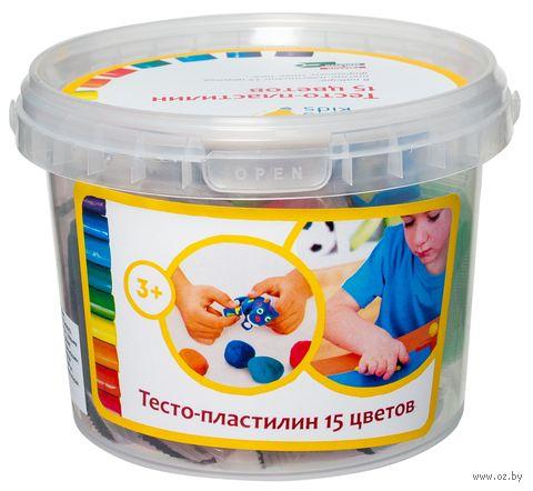 """Набор для лепки """"Тесто-пластилин"""" (15 цветов) — фото, картинка"""
