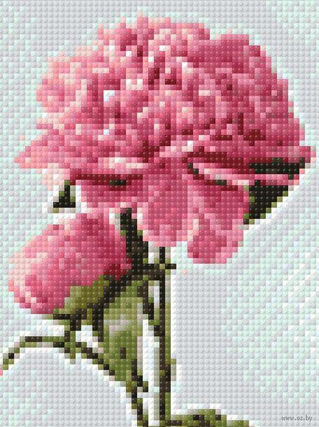 """Алмазная вышивка-мозаика """"Цветущие пионы"""" (150х200 мм) — фото, картинка"""