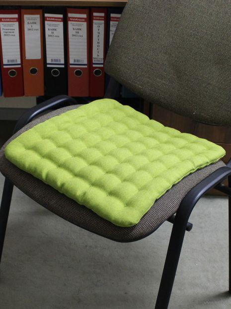 """Подушка на стул """"Ecology"""" (40х40 см; фисташковая) — фото, картинка"""