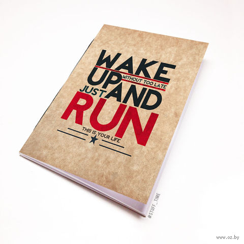 "Блокнот крафт ""Wake up and run"" А7 (394)"
