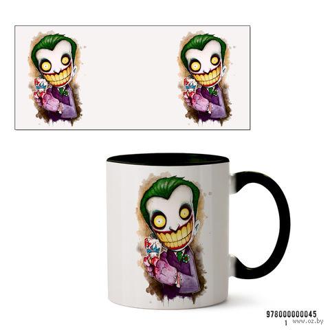 """Кружка """"Джокер из вселенной DC"""" (черная; арт. 045) — фото, картинка"""