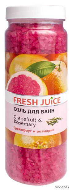 "Соль для ванн ""Грейпфрут и розмарин"" (700 г) — фото, картинка"