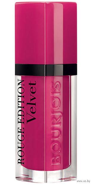 """Помада-флюид для губ """"Rouge edition velvet"""" (тон: 05, насыщенно-розовый) — фото, картинка"""