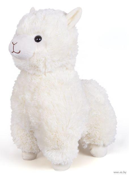 """Мягкая игрушка """"Альпака"""" (33 см; белая) — фото, картинка"""