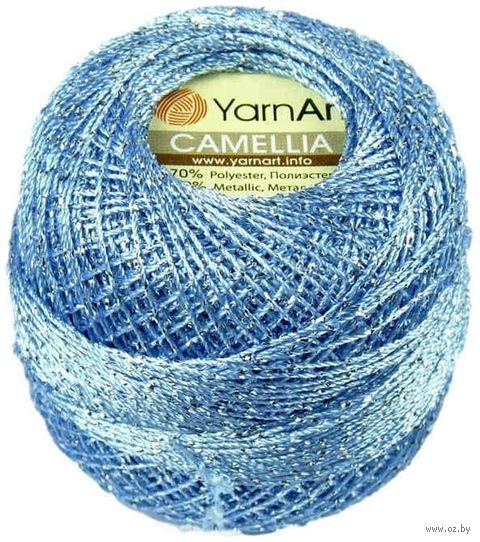 "Пряжа ""YarnArt. Camellia №417"" (20 г; 190 м; голубой-серебро) — фото, картинка"
