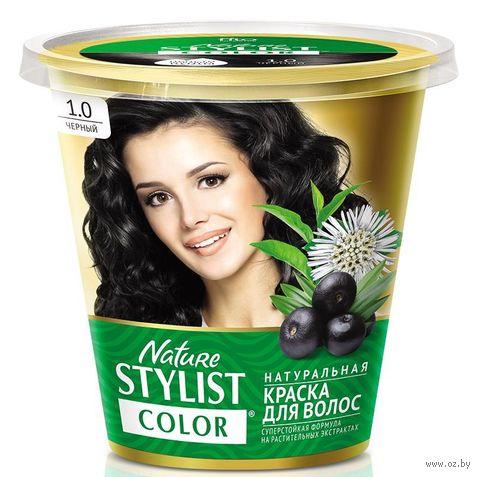 """Краска для волос """"Nature Stylist Color"""" тон: 1.0, черный — фото, картинка"""