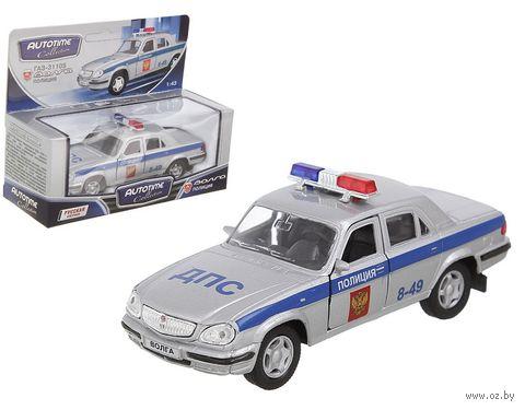 """Модель машины """"ГАЗ-31105. Волга. Полиция"""" (масштаб: 1/43)"""