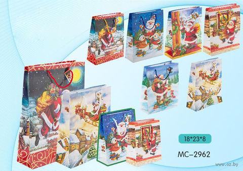 """Пакет бумажный подарочный """"С Новым годом"""" (в ассортименте; 18х23х8 см; арт. МС-2962)"""