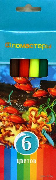 """Фломастеры """"Аквамариновое настроение"""" в картонной коробке (6 цветов)"""