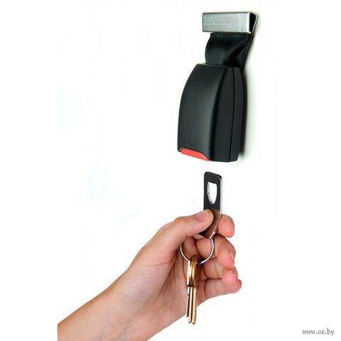 """Брелок для ключей, держатель, открывалка для бутылок """"Buckle Up"""" (черный)"""