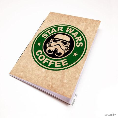 """Блокнот крафт """"Звездные войны. Кофе"""" А6 (005)"""