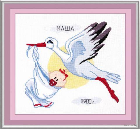 """Вышивка крестом """"Метрика для девочки"""" (270x230 мм) — фото, картинка"""