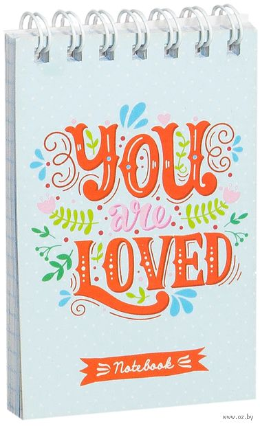 """Блокнот на спирали """"Цветы. You & Me"""" А7 (40 листов)"""