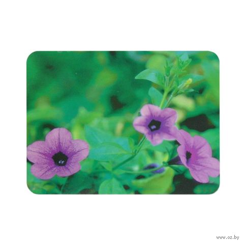 Коврик для мыши Buro BU-M20012 (рисунок/цветы) — фото, картинка