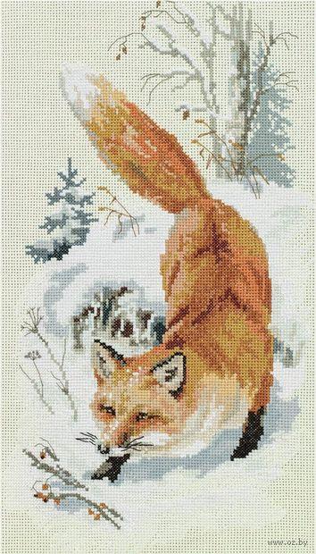 "Вышивка крестом ""По первому снегу"" (225х380 мм) — фото, картинка"
