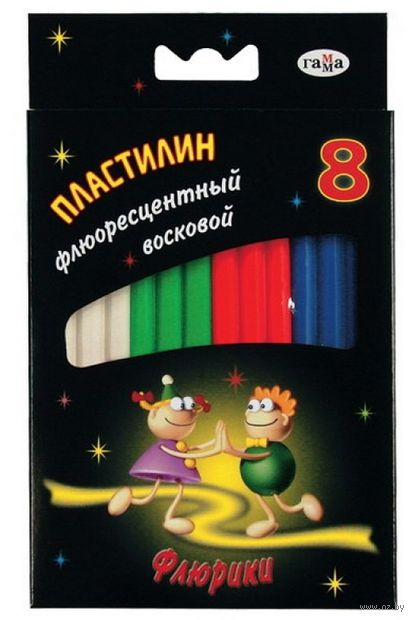 """Пластилин флуоресцентный """"Флюрики"""" (8 цветов)"""