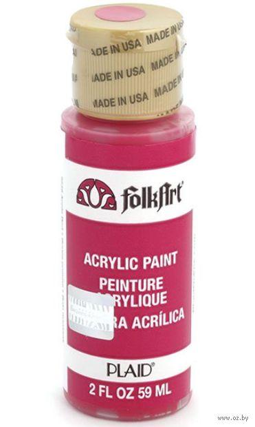"Краска акриловая ""FolkArt. Acrylic Paint"" (яблочно-красная; 59 мл; арт. PLD-02548) — фото, картинка"