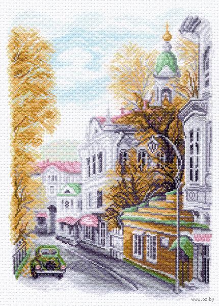 """Канва с нанесенным рисунком """"Яузский бульвар"""""""