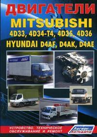 Двигатели Mitsubishi 4D33, 4D34-T4, 4D35, 4D36. Hyundai D4AF, D4AK, D4AE. Устройство, техническое обслуживание и ремонт — фото, картинка
