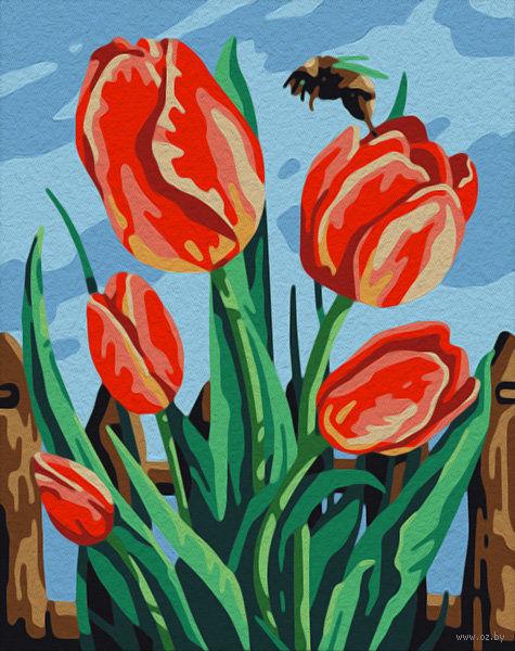 """Картина по номерам """"Майские тюльпаны"""" (165х130 мм) — фото, картинка"""