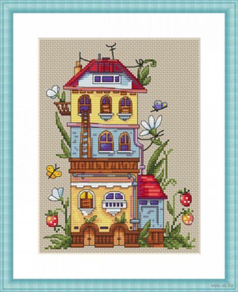 """Вышивка крестом """"Летний домик"""" (190х140 мм) — фото, картинка"""