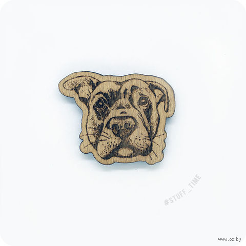 "Значок деревянный ""Лабрадор"" (арт. 0006) — фото, картинка"