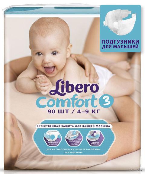 """Подгузники для детей Libero Comfort """"Midi 3"""" (4-9 кг.; 90 шт)"""