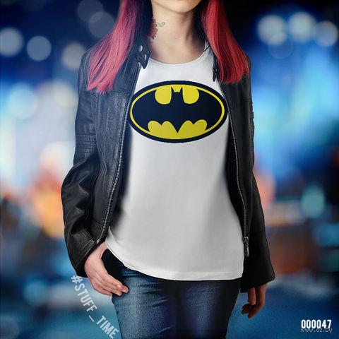 "Футболка женская ""Бэтмен"" (S; арт. 047) — фото, картинка"